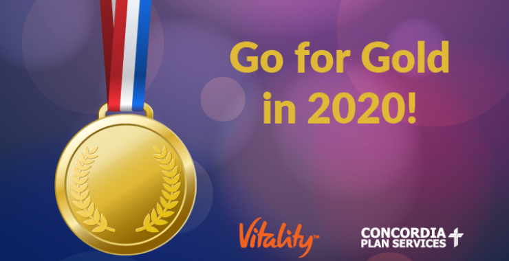 "Gold medal - ""Go for Gold in 2020"""