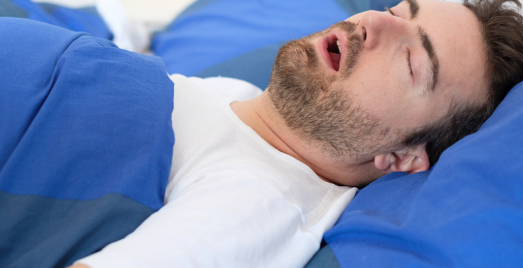 Man sleeping with his mouth open