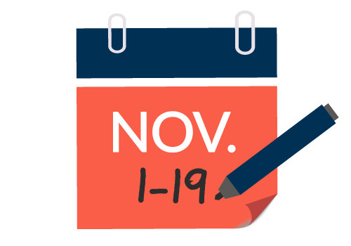 November 1-19